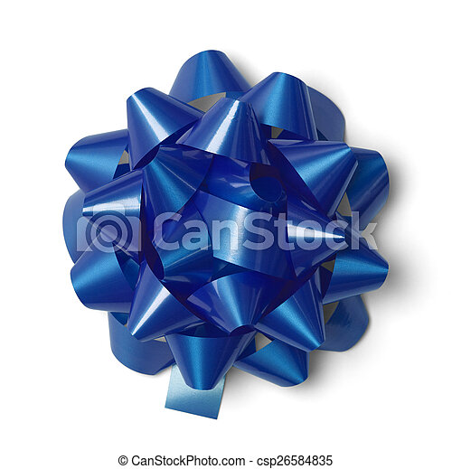 Blue Gift Bow - csp26584835