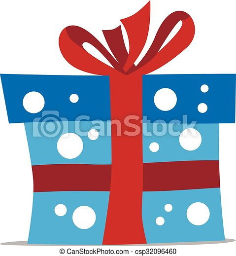 Blue gift box - csp32096460