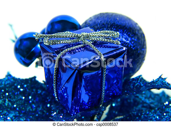 Blue Gift Box - csp0008537