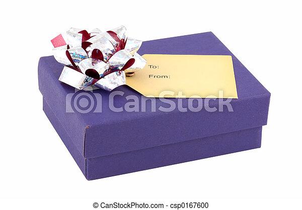 Blue Gift Box - csp0167600