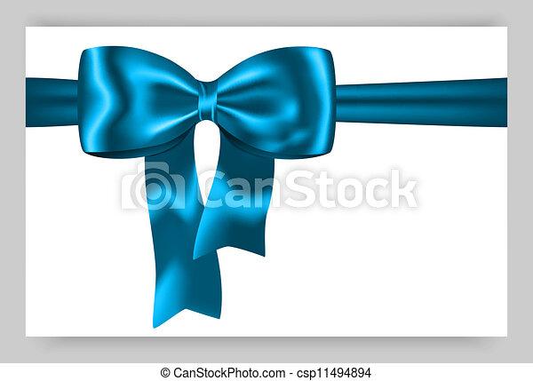 Blue gift ribbon - csp11494894