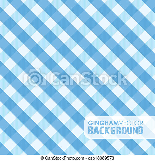 blue gingham  - csp18089573