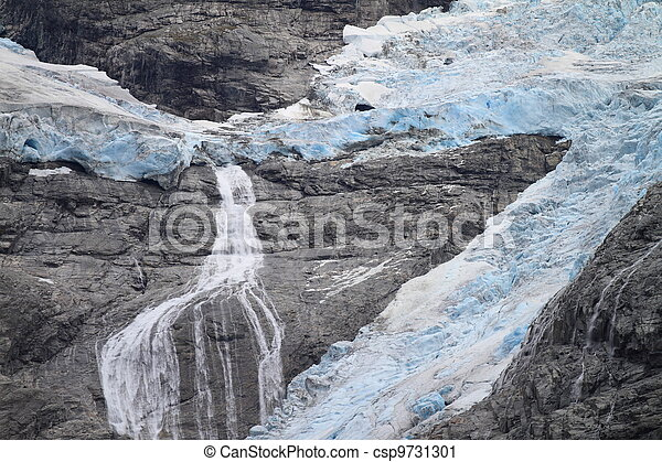 Blue Glacier in Norway - csp9731301