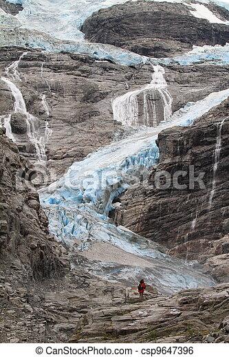 Blue Glacier in Norway - csp9647396