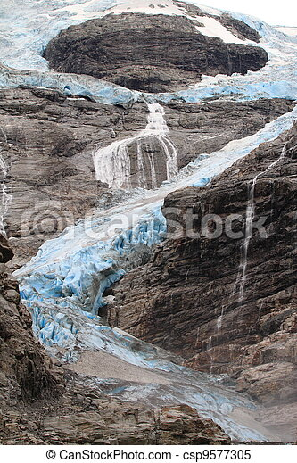 Blue Glacier in Norway - csp9577305