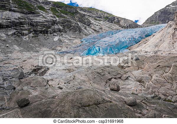 Blue glacier Nigardsbreen in Norway - csp31691968