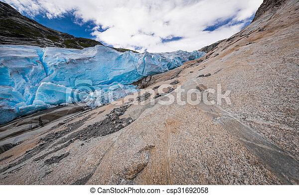 Blue glacier Nigardsbreen in Norway - csp31692058