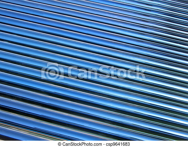 blue glass tube heap, solar panel details - csp9641683