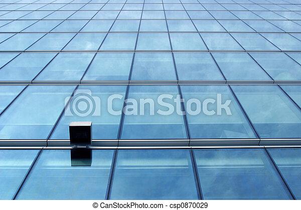 Blue glass wall - csp0870029
