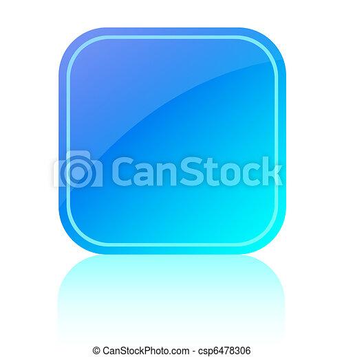 Blue glassy button - csp6478306
