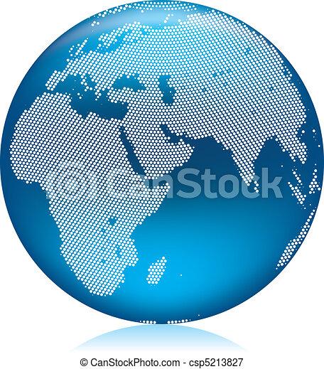 Blue globe - csp5213827