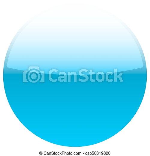 Blue glossy button blank round icon - csp50819820