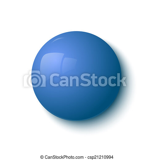Blue glossy button - csp21210994