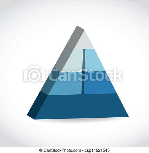 Blue glossy pyramid chart - csp14621545