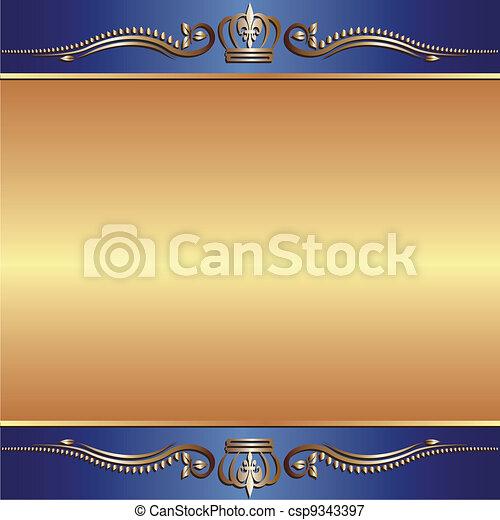 blue gold background - csp9343397