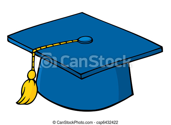 blue graduation cap and tassel vector illustration search clipart rh canstockphoto com free graduation cap and diploma clipart free graduation cap and diploma clipart