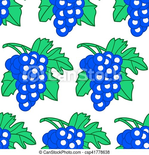 Blue grapes pattern - csp41778638