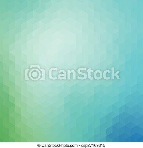 Blue green geometric pattern background - csp27169815