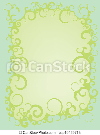 Blue green swirl border an abstract blue and green swirled border blue green swirl border csp19429715 altavistaventures Images