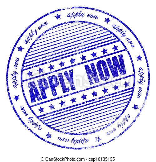Blue grunge apply now rubber stamp - csp16135135