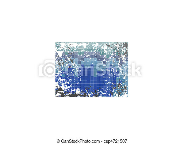 Blue grunge background - csp4721507