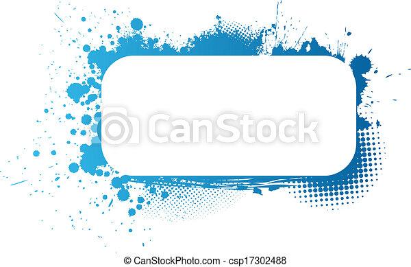 Blue grunge frame - csp17302488