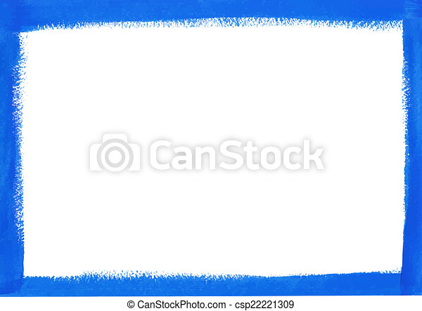 Blue grunge frame - csp22221309