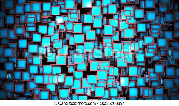 blue háttér, 3, kikövez - csp36208394
