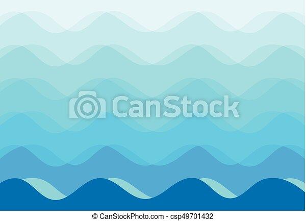 blue háttér, elvont, vektor, tenger, lenget - csp49701432