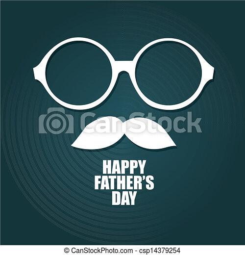 blue happy dad day - csp14379254
