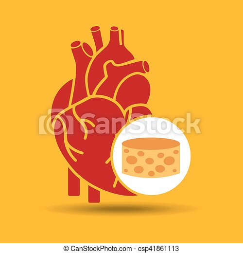 blue heart cheese icon graphic - csp41861113