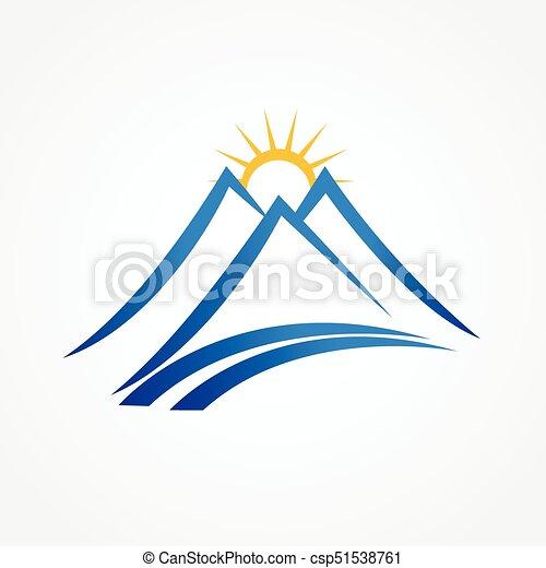 blue hegy, napos, jel - csp51538761