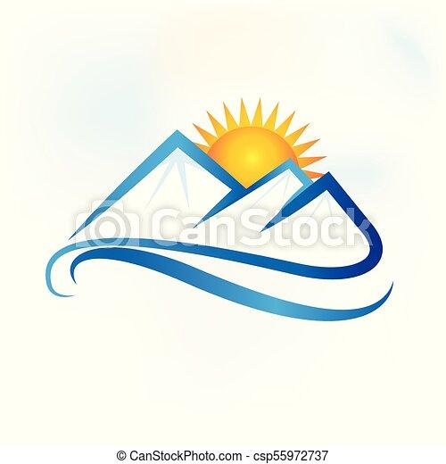 blue hegy, táj, jel - csp55972737