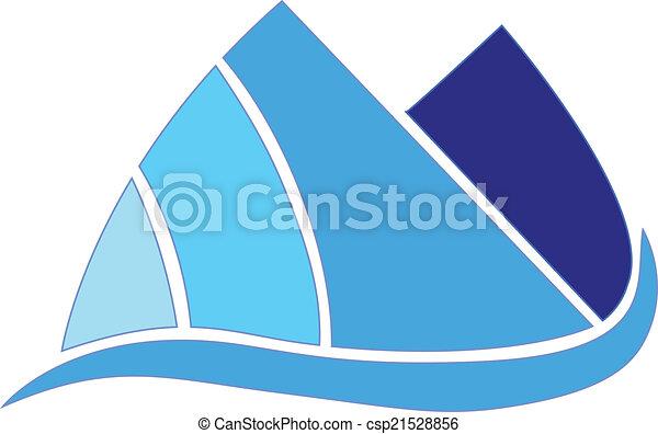blue hegy, társaság, vektor, tervezés, ikon - csp21528856