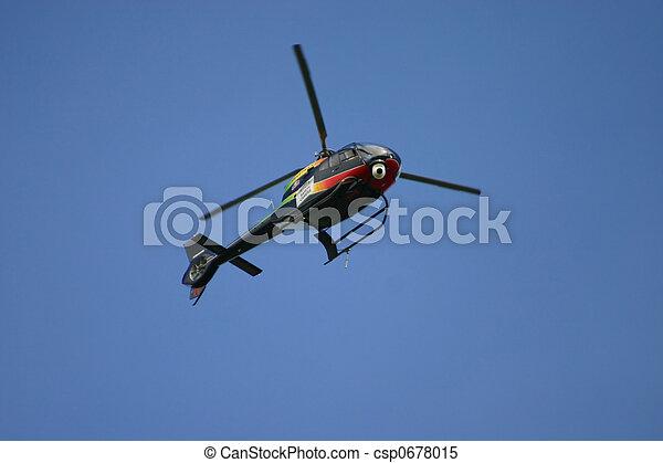 Blue Helecopter - csp0678015