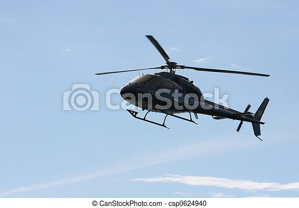 Blue Helicopter - csp0624940
