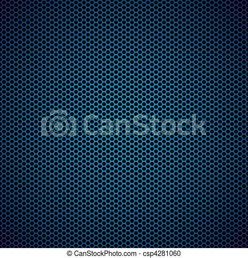 blue hexagon metal background - csp4281060