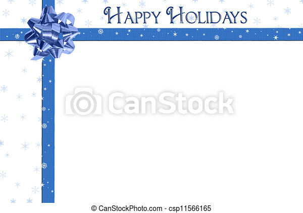 blue holiday bow  - csp11566165