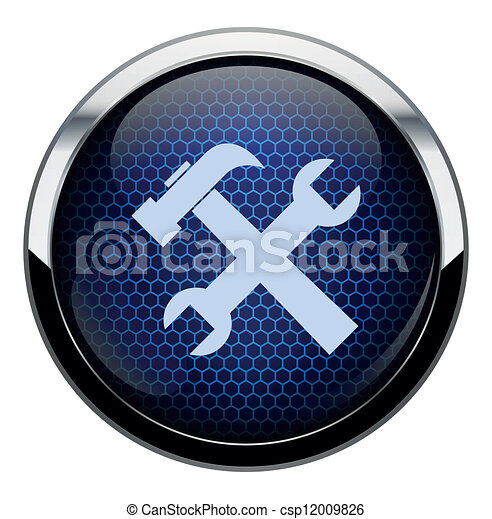 Blue honeycomb repair icon - csp12009826
