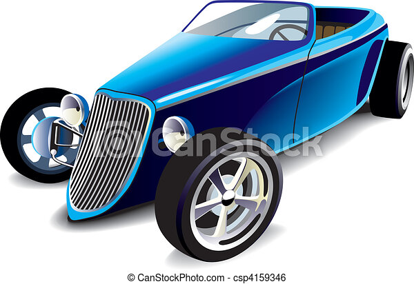 Blue Hot Rod - csp4159346