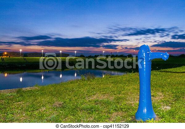 Blue Hour at Tisza - csp41152129