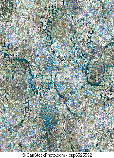 Blue ice jewel background  - csp6525532