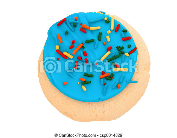 Blue Iced Cookie - csp0014829
