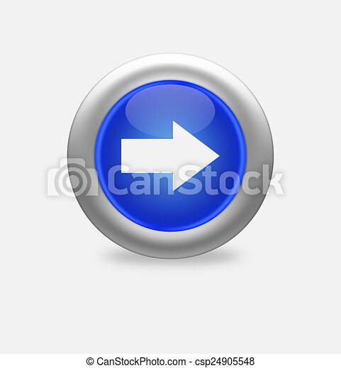 blue icon arrow right - csp24905548