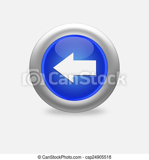 blue icon left arrow - csp24905518