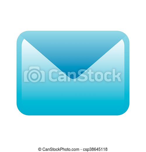 blue icon message design letter icon message text and voicemail
