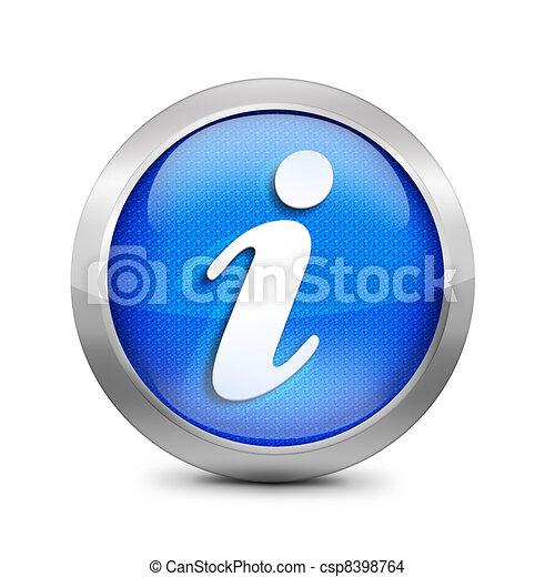blue icon symbol  - csp8398764