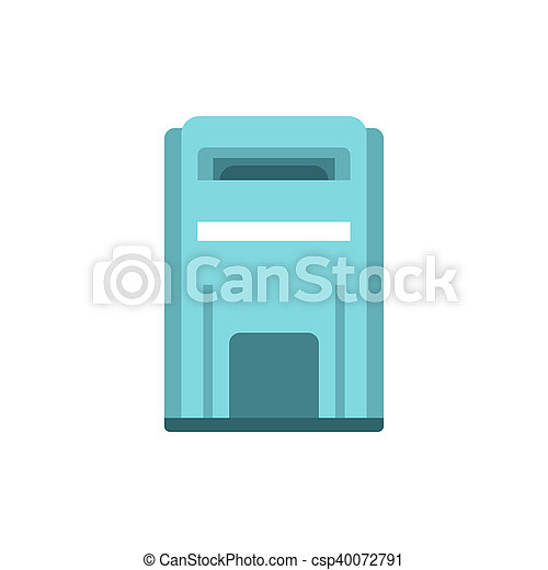 Blue inbox icon, flat style - csp40072791