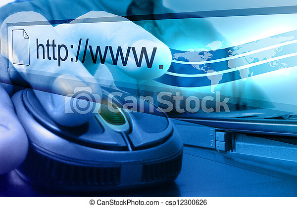 Blue Internet Mouse Search - csp12300626