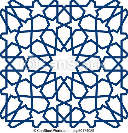 blue islamic pattern seamless arabic geometric pattern vector rh canstockphoto com islamic vector motif islamic vector ai
